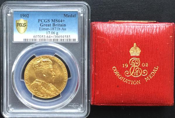 海外ディーラーからのオファー情報 (1902年 金メダル エドワード7世戴冠記念 MS64+)